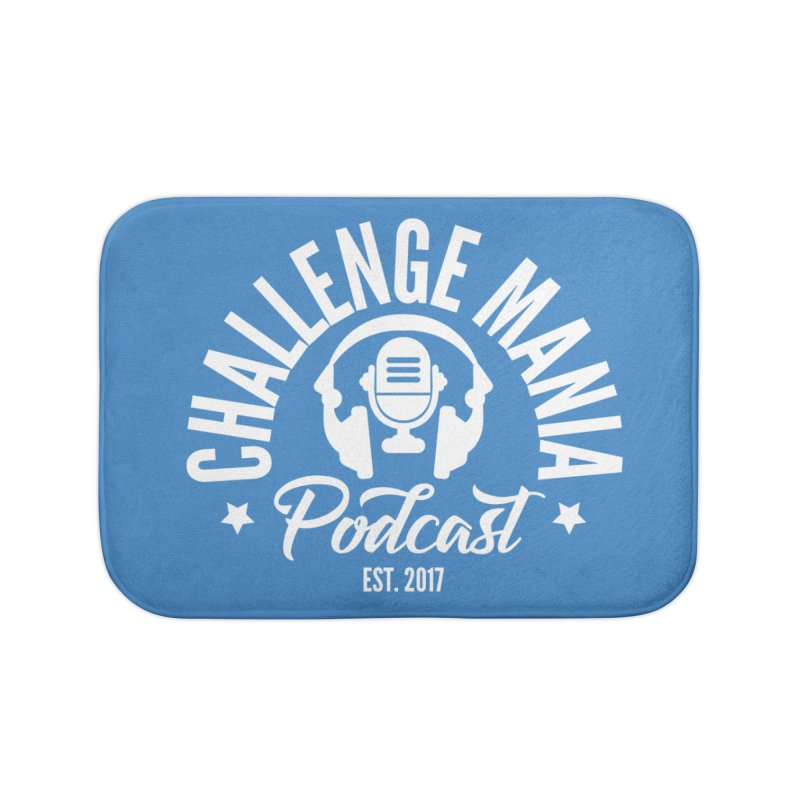 Classic Podcast Logo (White) Home Bath Mat by Challenge Mania Shop
