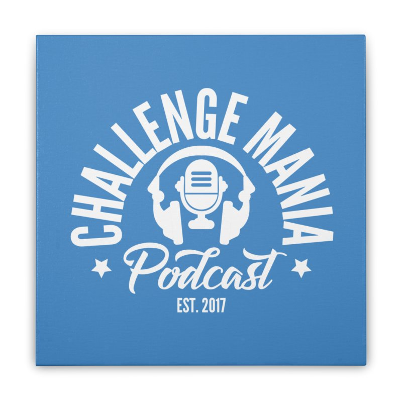 Classic Podcast Logo (White) Home Stretched Canvas by Challenge Mania Shop