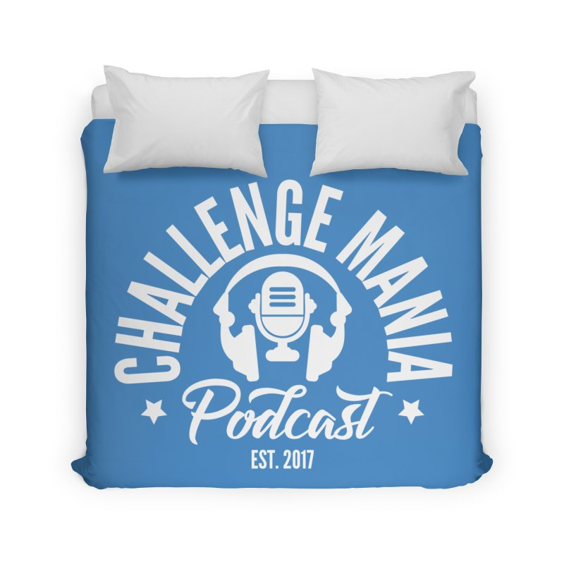 Classic Podcast Logo (White) Home Duvet by Challenge Mania Shop
