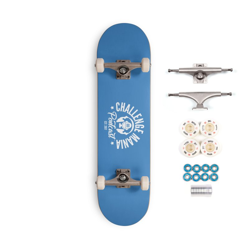 Classic Podcast Logo (White) Accessories Complete - Premium Skateboard by Challenge Mania Shop