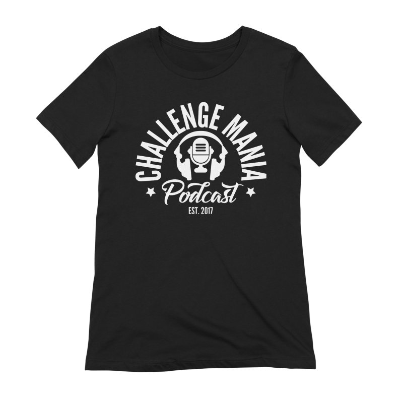 Classic Podcast Logo (White) Women's Extra Soft T-Shirt by Challenge Mania Shop