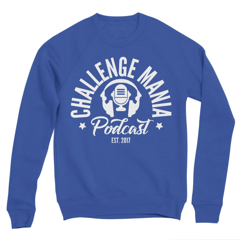 Classic Podcast Logo (White) Men's Sweatshirt by Challenge Mania Shop
