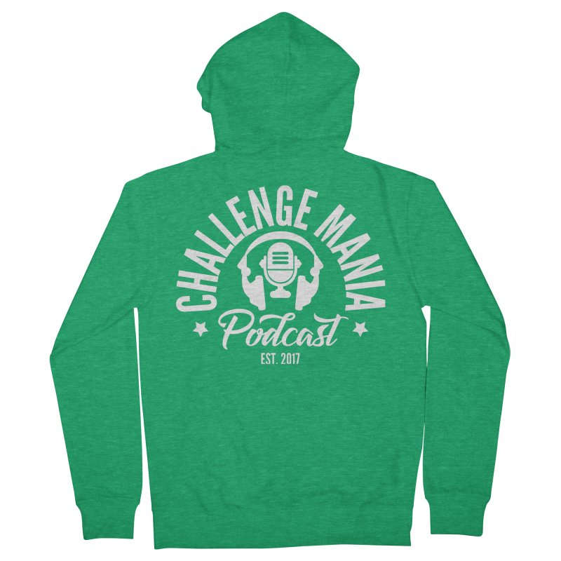 Classic Podcast Logo (White) Men's Zip-Up Hoody by Challenge Mania Shop