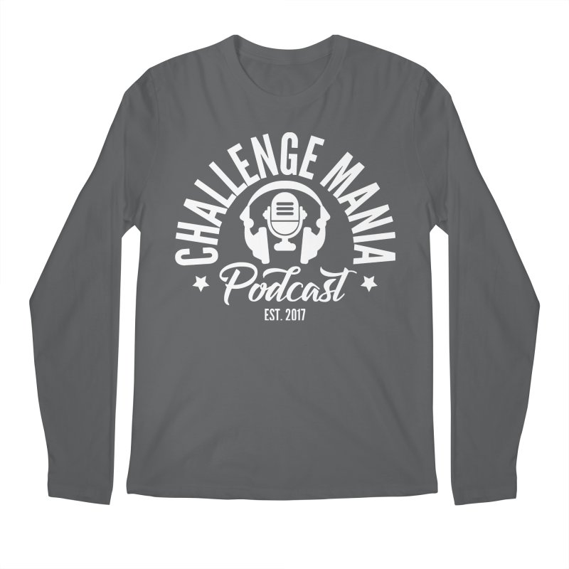 Classic Podcast Logo (White) Men's Longsleeve T-Shirt by Challenge Mania Shop