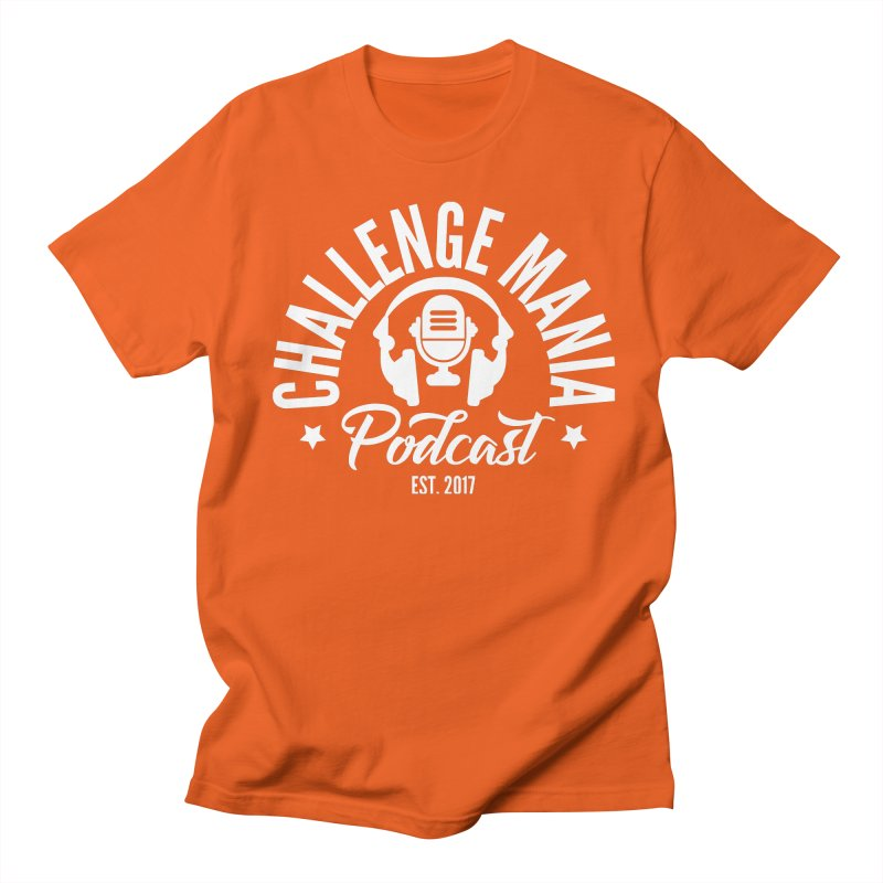 Classic Podcast Logo (White) Men's T-Shirt by Challenge Mania Shop