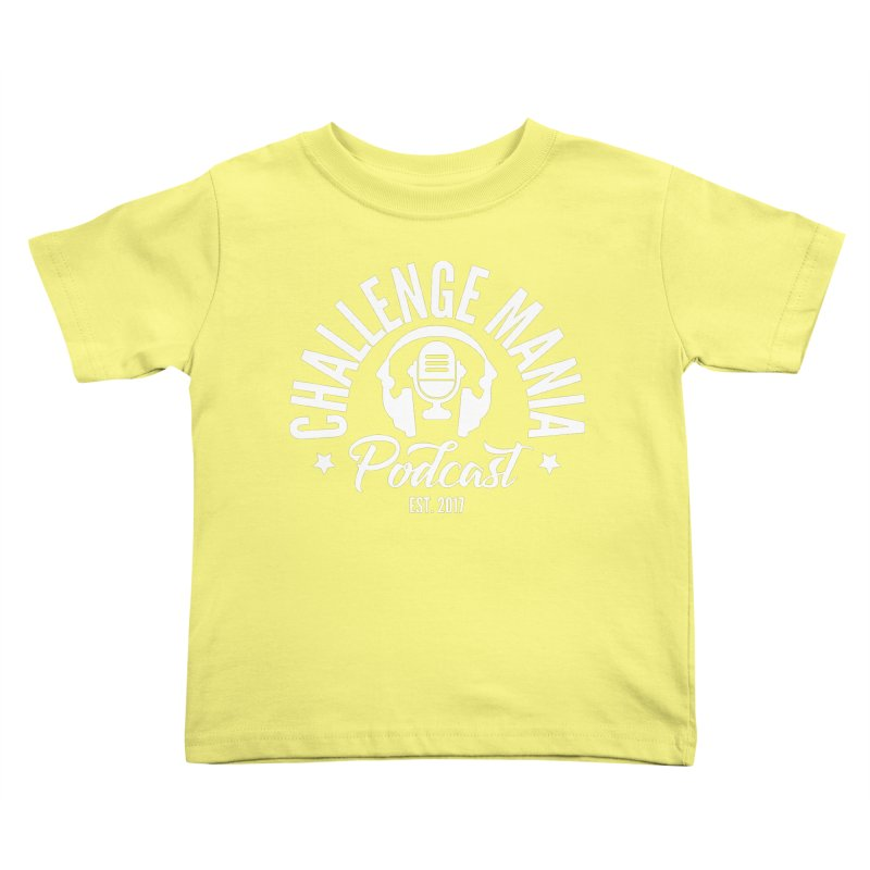 Classic Podcast Logo (White) Kids Toddler T-Shirt by Challenge Mania Shop