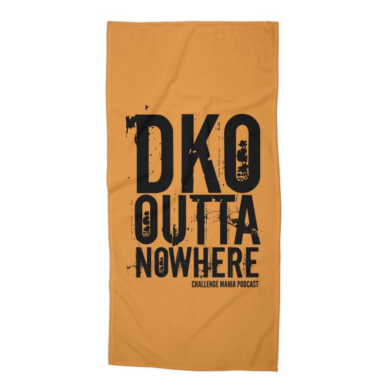 DKO Outta Nowhere (Black) Accessories Beach Towel by Challenge Mania Shop