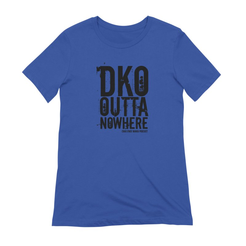 DKO Outta Nowhere (Black) Women's Extra Soft T-Shirt by Challenge Mania Shop