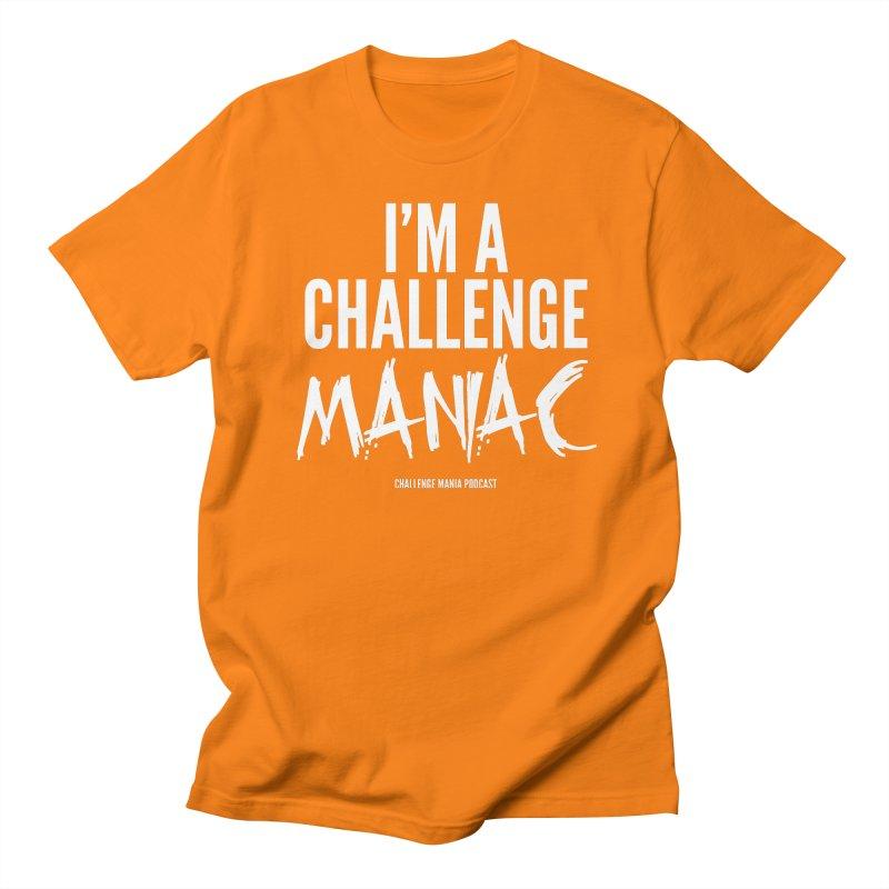 I'm a Challenge Maniac (White) Men's T-Shirt by Challenge Mania Shop