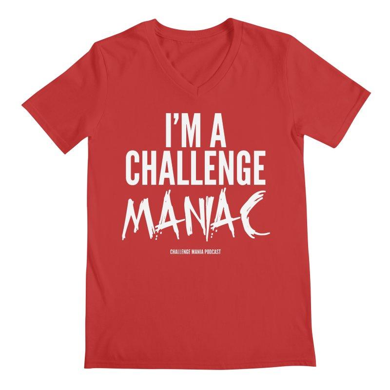 I'm a Challenge Maniac (White) Men's V-Neck by Challenge Mania Shop