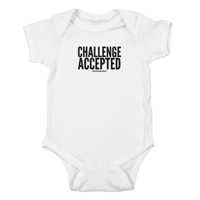 Challenge Accepted (Black) Kids Baby Bodysuit by Challenge Mania Shop