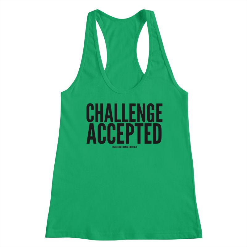 Challenge Accepted (Black) Women's Tank by Challenge Mania Shop