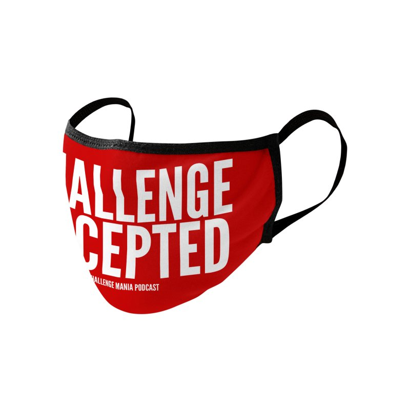Challenge Accepted (White) Accessories Face Mask by Challenge Mania Shop