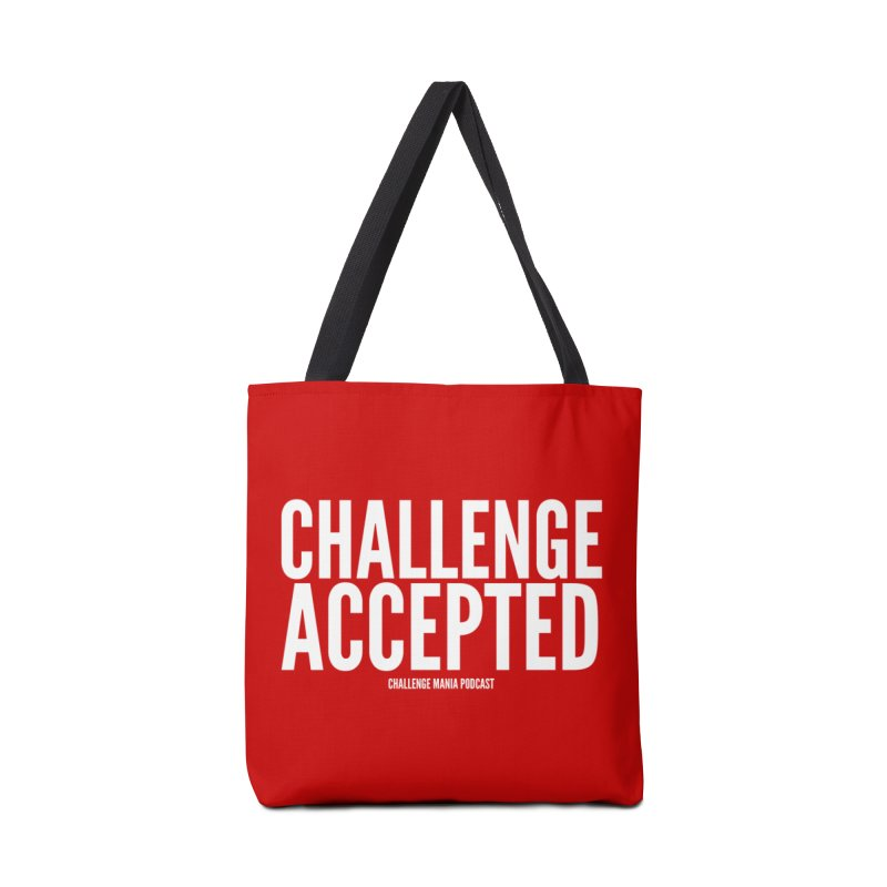 Challenge Accepted (White) Accessories Tote Bag Bag by Challenge Mania Shop