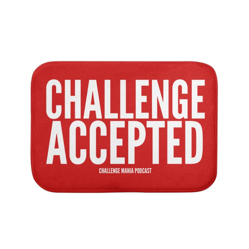 Challenge Accepted (White) Home Bath Mat by Challenge Mania Shop