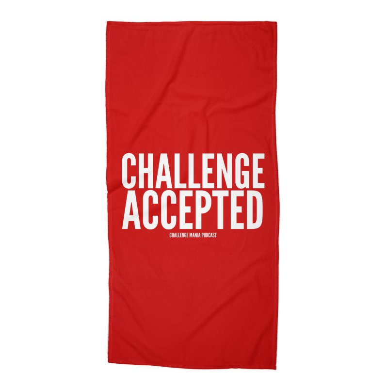 Challenge Accepted (White) Accessories Beach Towel by Challenge Mania Shop