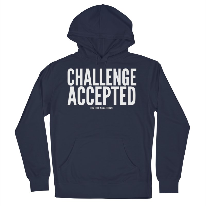 Challenge Accepted (White) Men's Pullover Hoody by Challenge Mania Shop