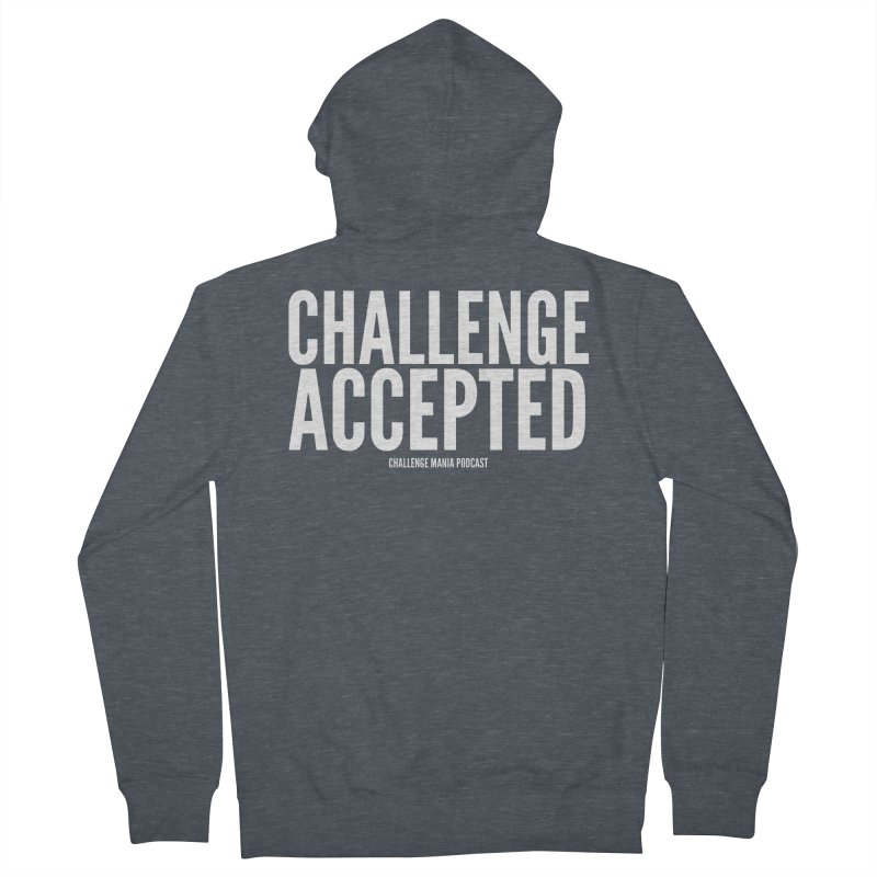 Challenge Accepted (White) Men's French Terry Zip-Up Hoody by Challenge Mania Shop