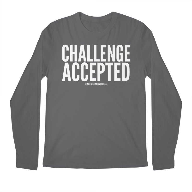 Challenge Accepted (White) Men's Longsleeve T-Shirt by Challenge Mania Shop