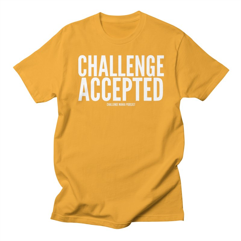 Challenge Accepted (White) Men's T-Shirt by Challenge Mania Shop