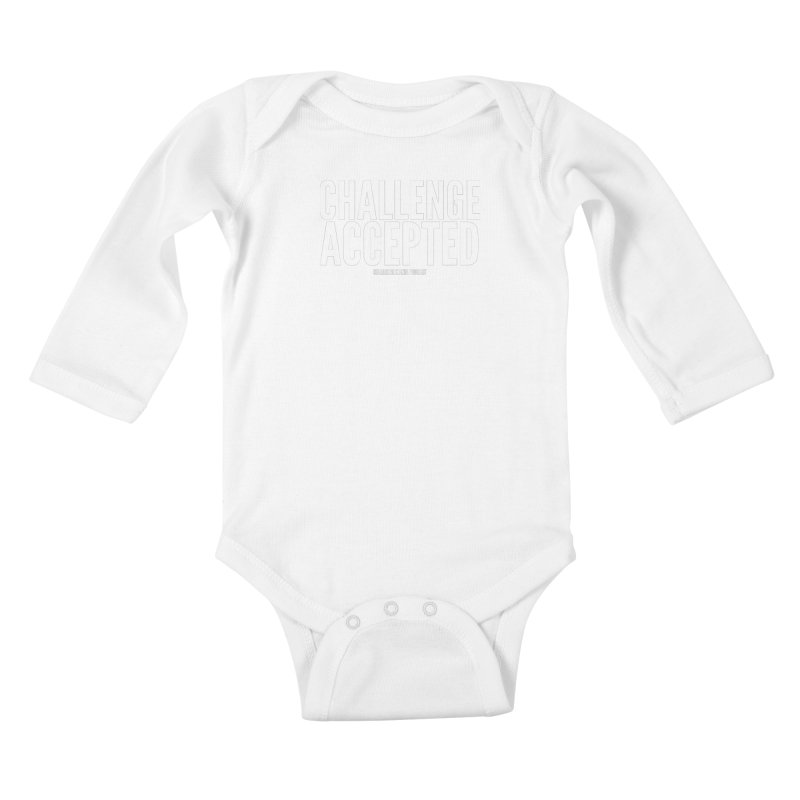 Challenge Accepted (White) Kids Baby Longsleeve Bodysuit by Challenge Mania Shop