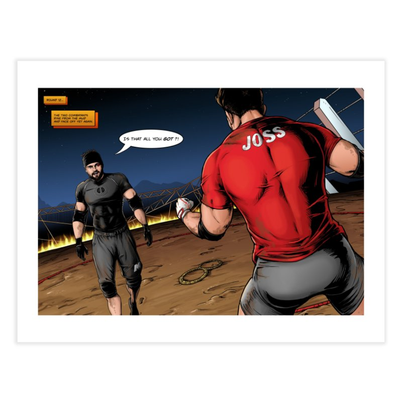 Derrick Vs Joss Comic Book Home Fine Art Print by Challenge Mania Shop