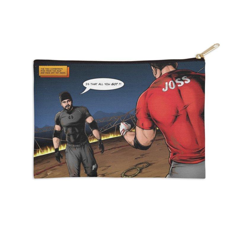 Derrick Vs Joss Comic Book Accessories Zip Pouch by Challenge Mania Shop