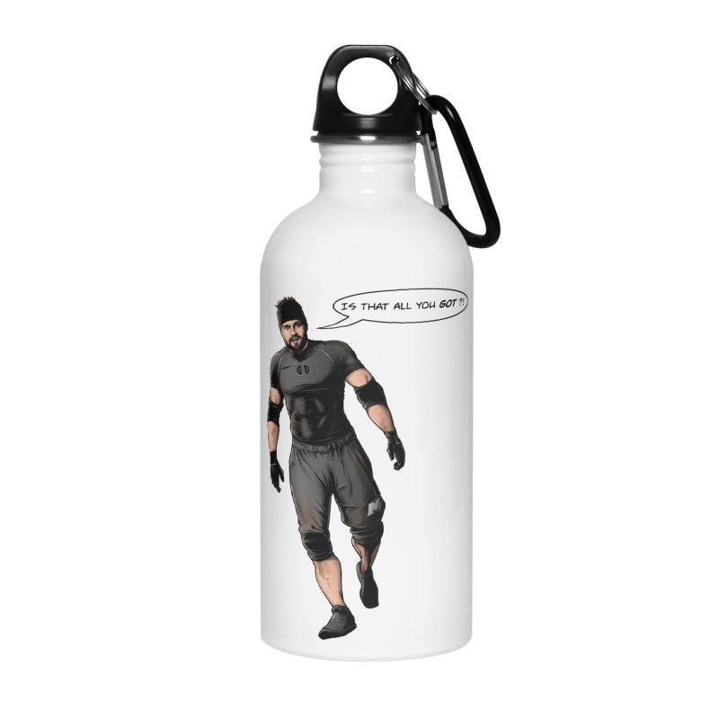 Comic Book Derrick Accessories Water Bottle by Challenge Mania Shop