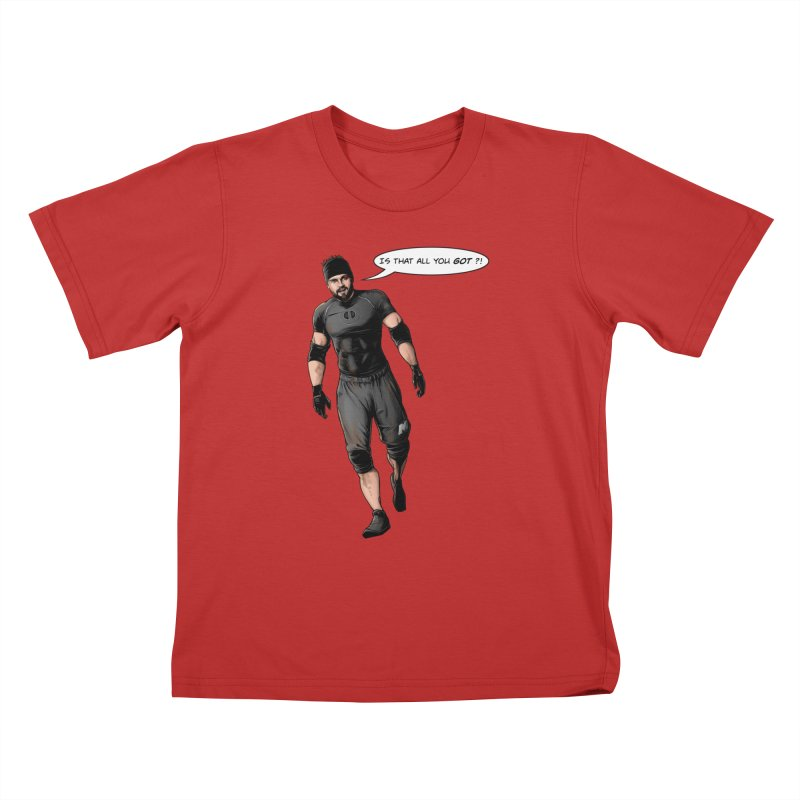 Comic Book Derrick Kids T-Shirt by Challenge Mania Shop