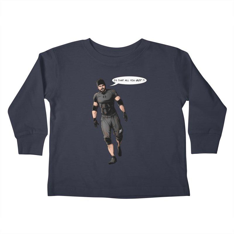 Comic Book Derrick Kids Toddler Longsleeve T-Shirt by Challenge Mania Shop