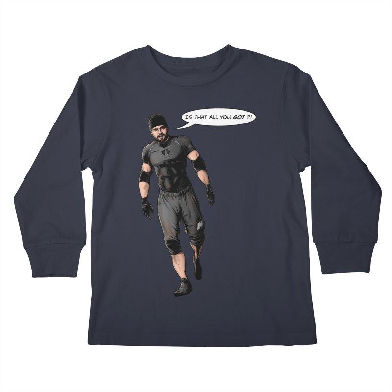 Comic Book Derrick Kids Longsleeve T-Shirt by Challenge Mania Shop