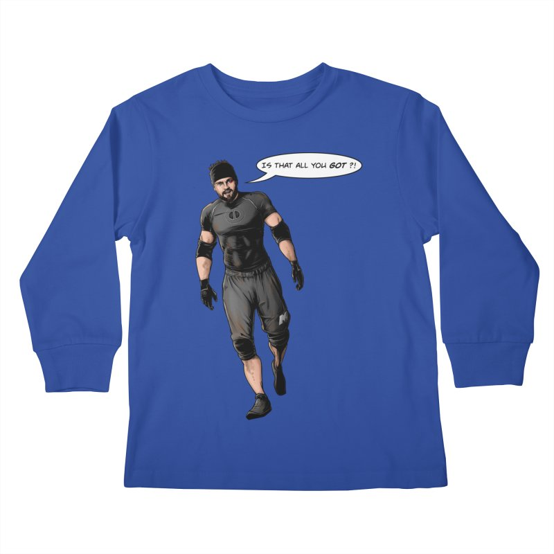 Comic Book Derrick Kids Longsleeve T-Shirt by Challenge Mania Shop