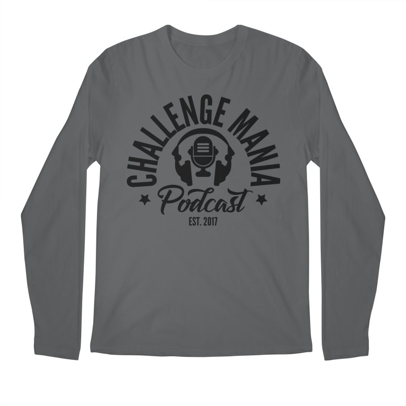 Classic Podcast Logo (Black) Men's Longsleeve T-Shirt by Challenge Mania Shop