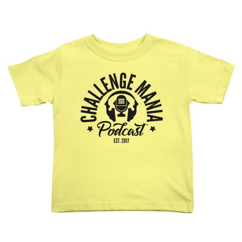 Classic Podcast Logo (Black) Kids Toddler T-Shirt by Challenge Mania Shop