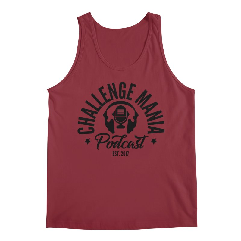 Classic Podcast Logo (Black) Men's Tank by Challenge Mania Shop