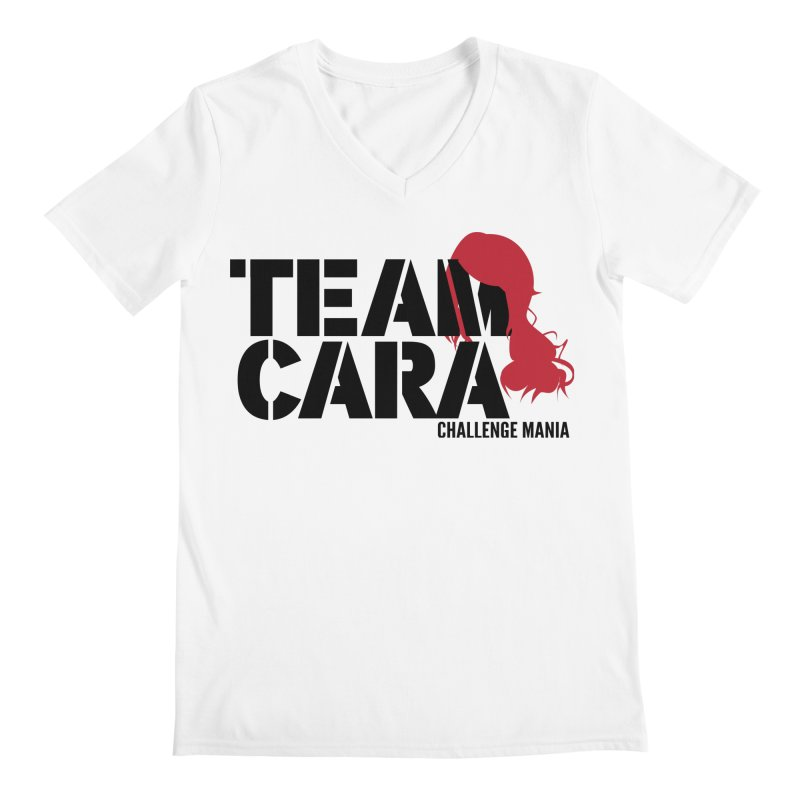 Team Cara Men's V-Neck by Challenge Mania Shop