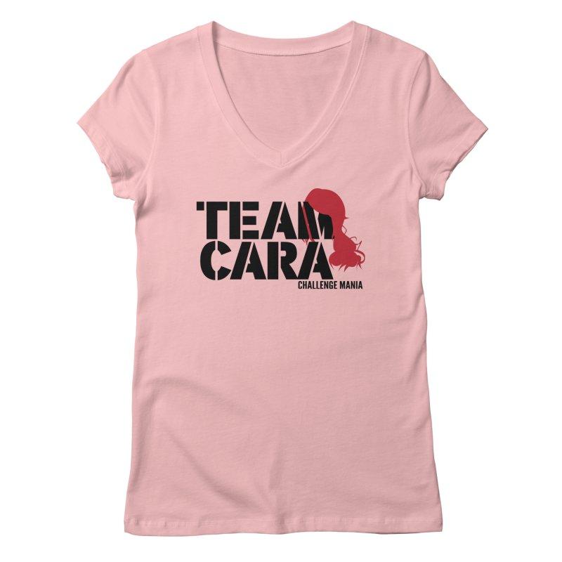 Team Cara Women's V-Neck by Challenge Mania Shop