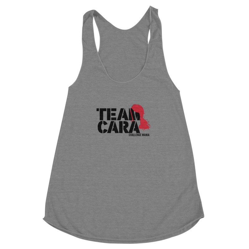 Team Cara Women's Racerback Triblend Tank by Challenge Mania Shop