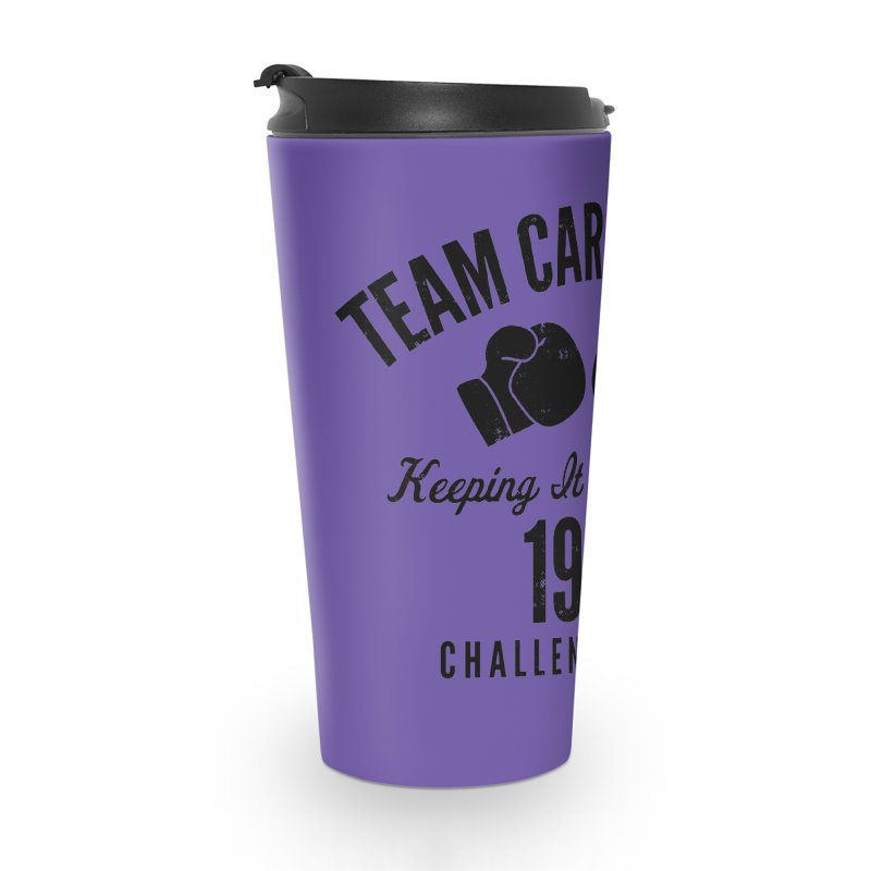 Cara 1986 (Black) Accessories Travel Mug by Challenge Mania Shop