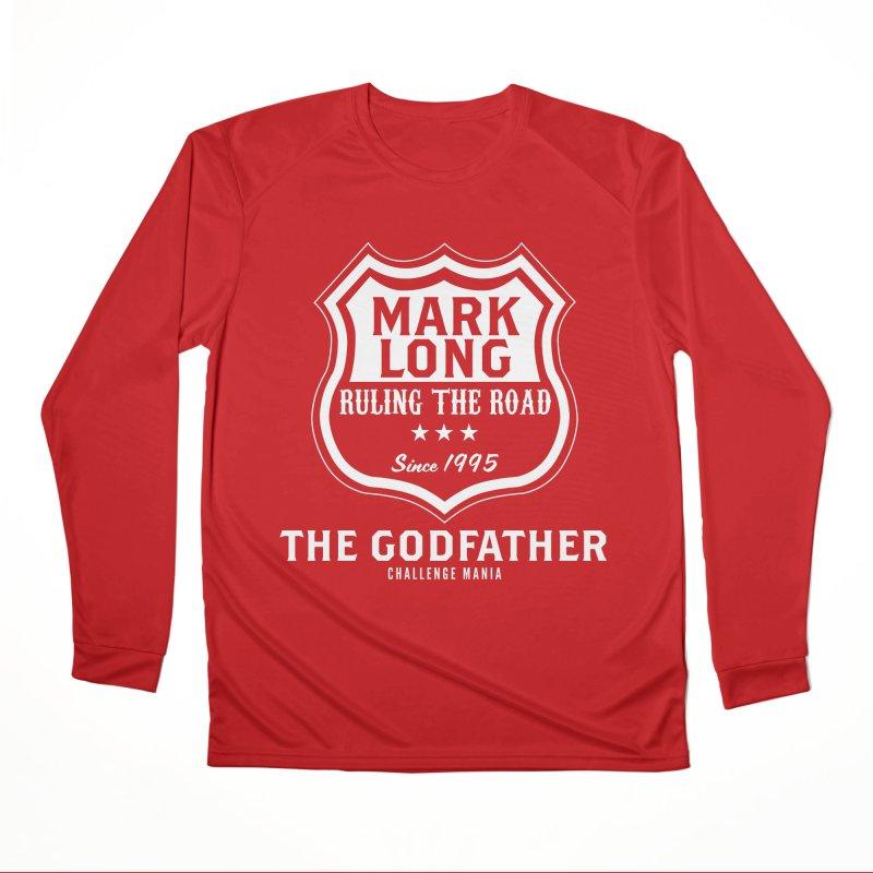 Mark Long Sign (White) Men's Performance Longsleeve T-Shirt by Challenge Mania Shop