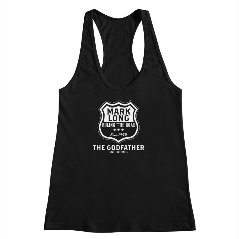 Mark Long Sign (White) Women's Racerback Tank by Challenge Mania Shop