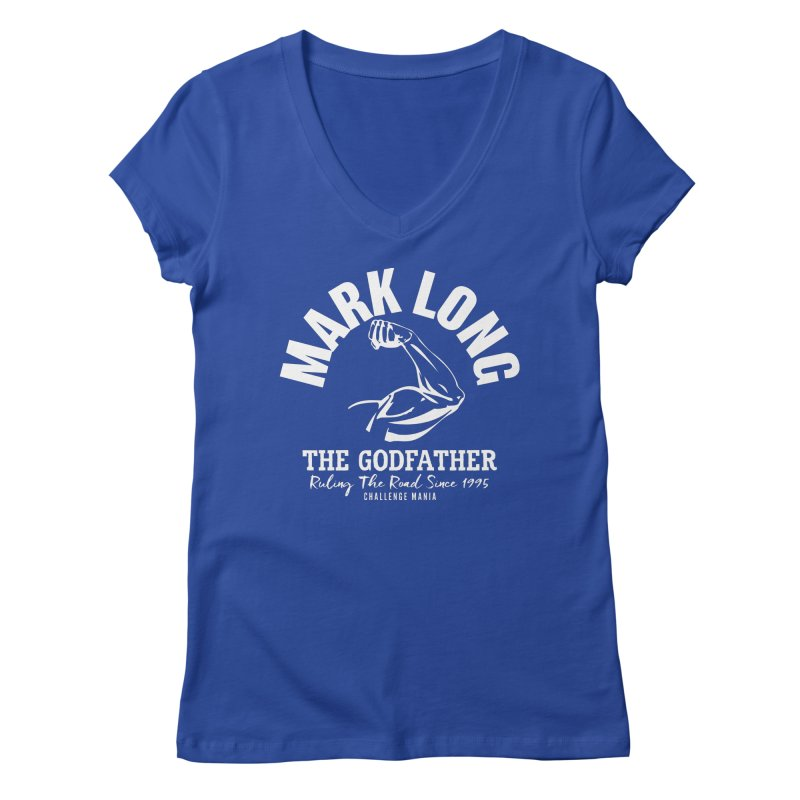 Mark Long Muscle (White) Women's V-Neck by Challenge Mania Shop