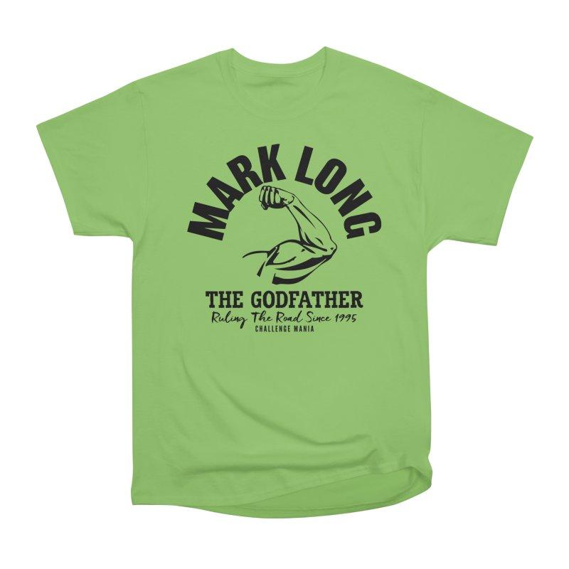 Mark Long Muscle (Black) Women's Heavyweight Unisex T-Shirt by Challenge Mania Shop