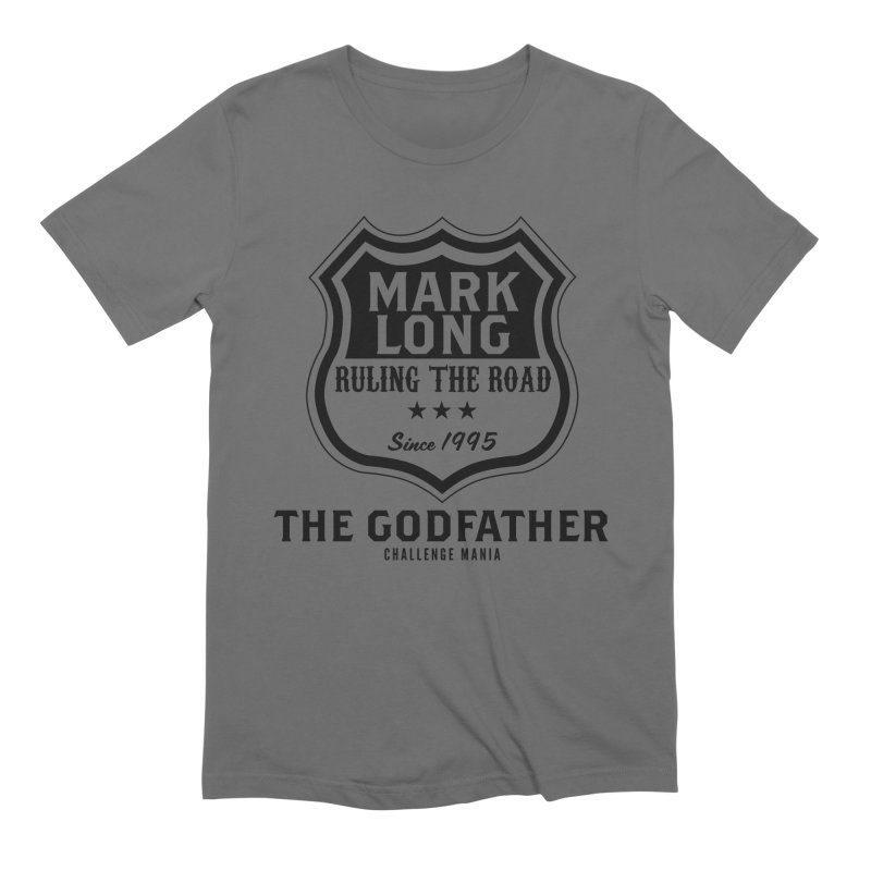 Mark Long Sign (Black) Men's T-Shirt by Challenge Mania Shop