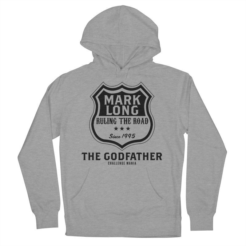 Mark Long Sign (Black) Women's French Terry Pullover Hoody by Challenge Mania Shop