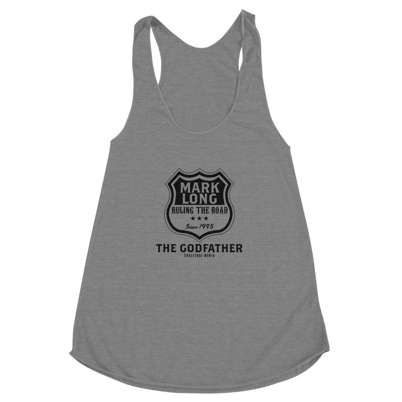 Mark Long Sign (Black) Women's Racerback Triblend Tank by Challenge Mania Shop