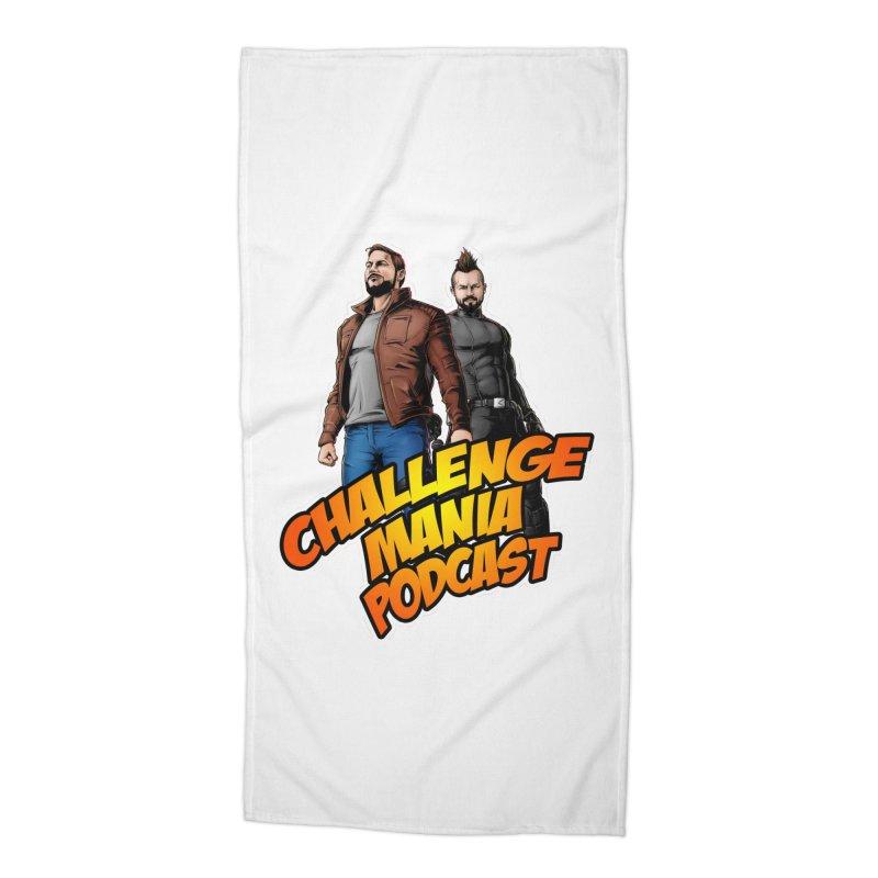 Super Hero Derrick & Scott Accessories Beach Towel by Challenge Mania Shop