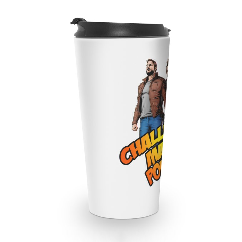 Super Hero Derrick & Scott Accessories Travel Mug by Challenge Mania Shop