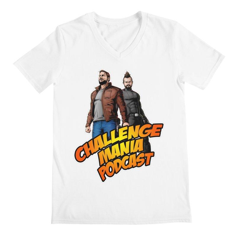 Super Hero Derrick & Scott Men's V-Neck by Challenge Mania Shop