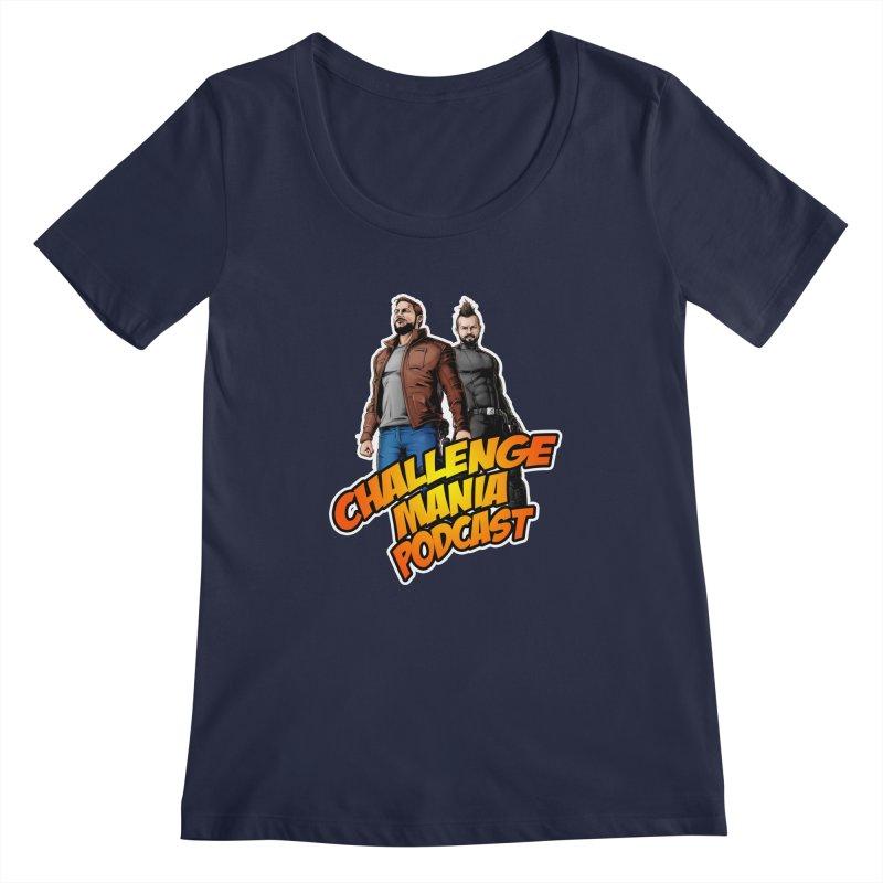 Super Hero Derrick & Scott Women's Regular Scoop Neck by Challenge Mania Shop
